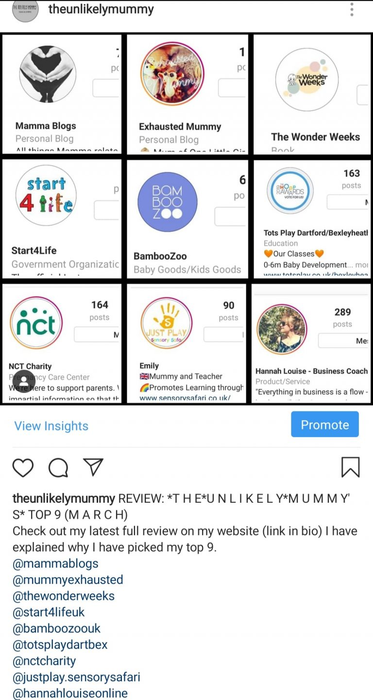 Review: The Unlikely Mummy's top 9 (March)